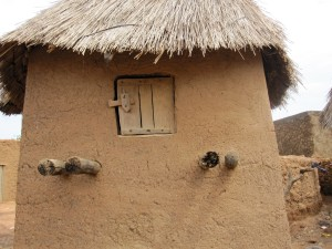A granary commonly found in family compounds. This storehouse, one of hundreds in the village of Zogore, holds millet, a food staple of Burkina Faso, Mali and other West African countries.